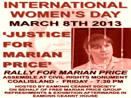 March For Marian Price on International  Women's  Day