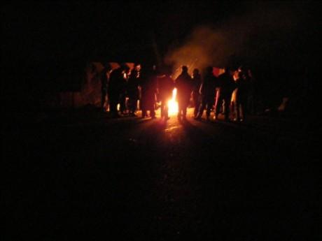 Gathering at the crossroads last night