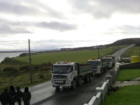 Yet more trucks blocked...