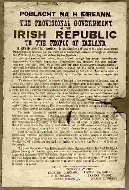 100th anniversary to be commemorated in Dublin on the 23rd April 2016.