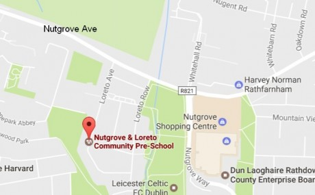 Location map for Loreto & Nutgrove Community Centre, Loreto Ave (off Nutgrove Ave)