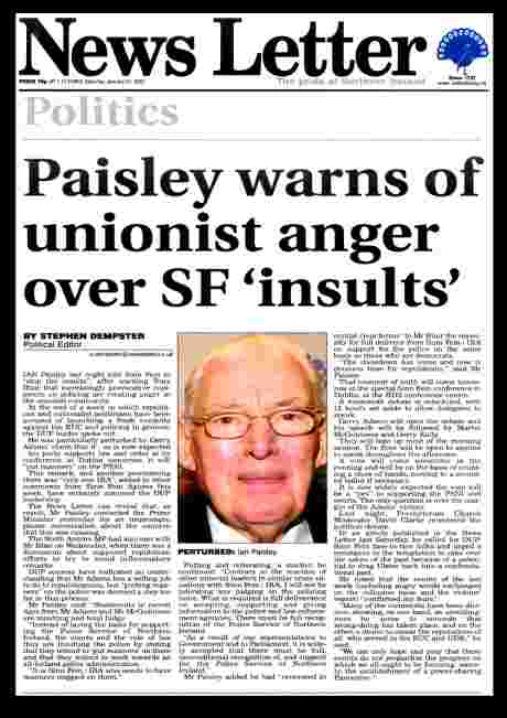 Leave RUC killers alone says Paisley