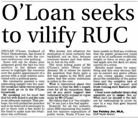 Paisley Jnr launches (another) sexist attack on Nuala O'Loan