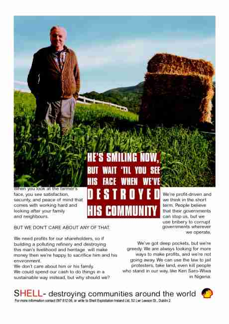 Shell Destroys Communities. (click to download and print).