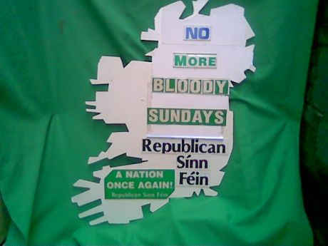 RSF 'Bloody Sunday' placard , 2008 .