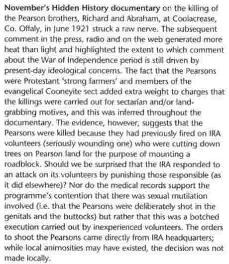 Brian Hanley of NUI Maynooth criticises RTE programme - History Ireland JanFeb08
