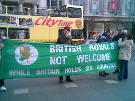 British 'royals' not welcome !