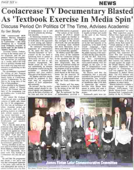 Full page given over to coverage of flawed RTE exercise - 16 Jan 08