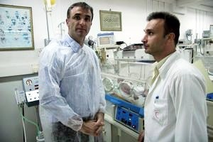 Chris Andrews in a Gaza Hospital