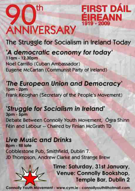 Connolly Youth Movement - 90th Anniversary First Dáil Éireann