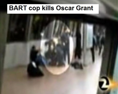 US cop murder: 22 year old Oscar Grant in the back while he was lying face down on the ground on a subway platform
