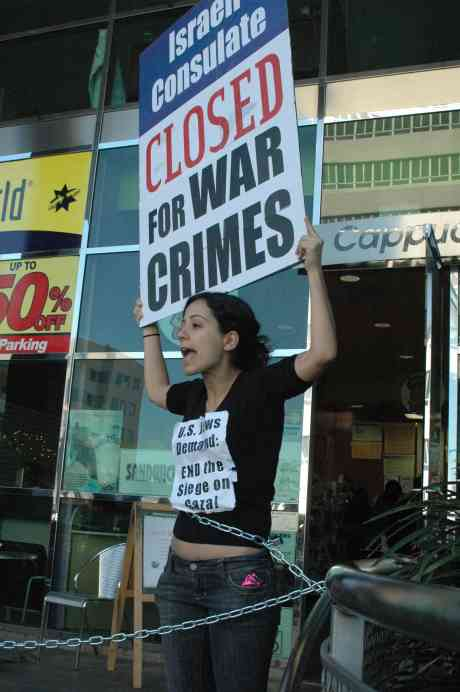 USA: Los Angelas - Israeli Consulate closed for war crimes- Thursday January 16, 2009