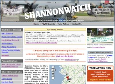 Screenshot from www.shannonwatch.org which was attacked repeatedly this week