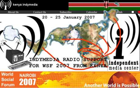 IMC GLOBAL COMMUNITY: Indymedia radio support for WSF 2007 from Kenya