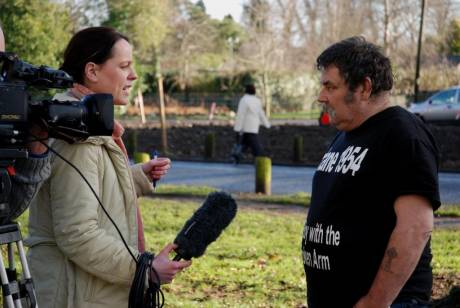 Kevin Flanagan being interviewed by RTE.