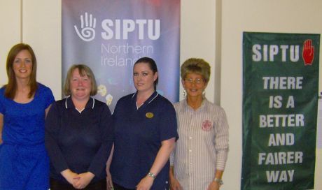 Some members of the SIPTU Boots Organising Committee