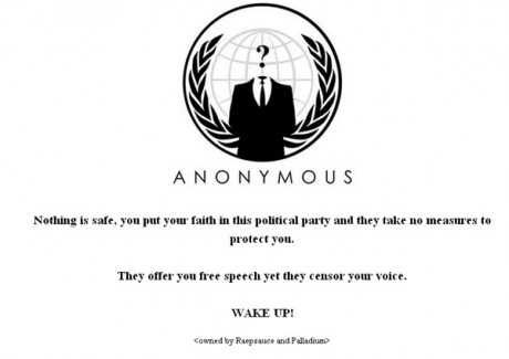 Pro-Wikileaks hacktivists, ANONYMOUS, bring down Fine Gael website