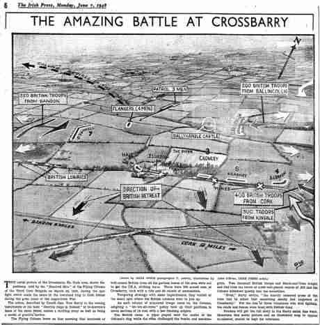 Irish Press Photograph of location of Crossbarry Ambush