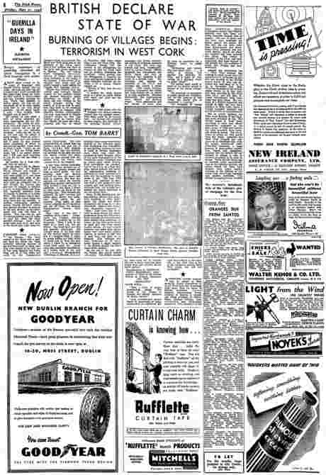 Tom Barry's Guerilla Days in Ireland serialised in the Irish Press 1948 - instalment 11