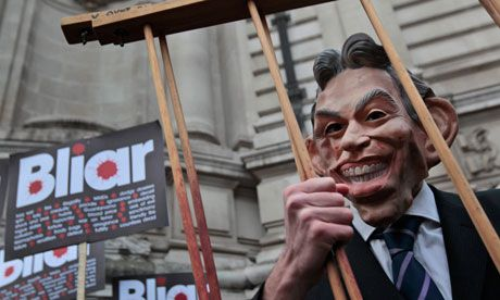 Tony Blair put his foot firmly in his mouth at Iraq war inquiry today