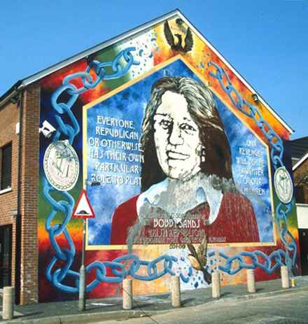 West Belfast Bobby Sands Hunger Strike mural