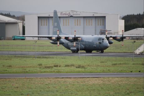Hercules C 130 num. BD 5379, US NAVY warplane at Shannon 8 Jan 2012