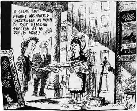 The cartoon Harris complained of 13 January 2013 that exposed his disastrous 1997 Mary McAleese presidential election - click if not clear