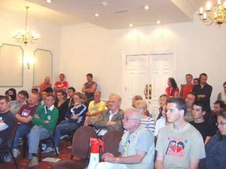 Some of the Cork audience (more sat on the floor at back out of camera shot)