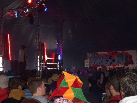 Hip Hop:  MC of the break offs in the Red Bull Tent