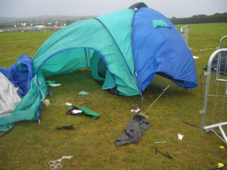 Wind, Rain and Floating Tents