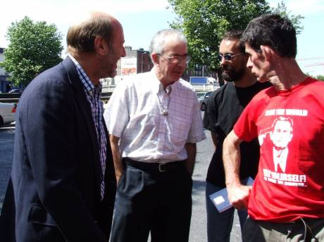 Dennis Haliday Chats To Supporters Ed Horgan, Sean And Con