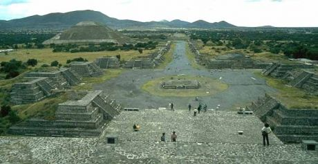 In Nahuatl, Teotihuacan means 'The City of the Gods', or 'Where Men Become Gods'. who will sit atop the Mexican pyramid next? probably the same eagle as usual.