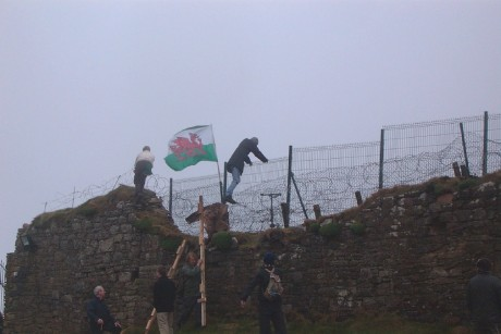 A previous protest at the Old Head of Kinsale