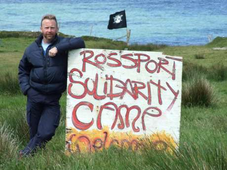 Niall on the Rossport Solidarity Camp