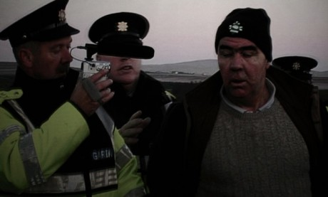 A clip from the film, Pat 'The Chief' O'Donnell being arrested at sea.  © Risteard Ó Domhnaill