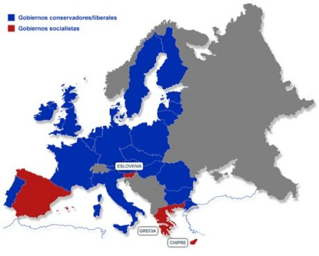 From Red to Blue, Europe has turned conservative (Soon Spain will also be blue)