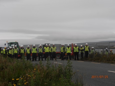 IRMS blocking off the public road again at Aughoose. One law for shell, another for the rest of us.