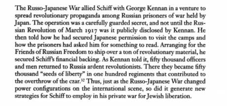 Screen shot via Google Books - Jacob Schiff helped finance the Bolsheviks, years before the Revolution
