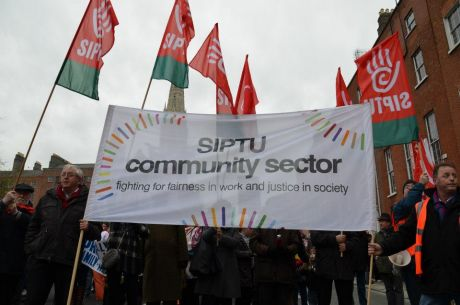 SIPTU Community Members on the March