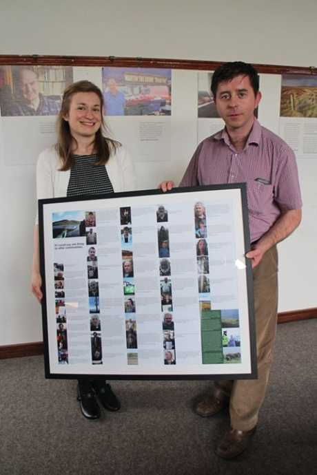Presenting a framed picture to Eamon Browne of Killarney Library
