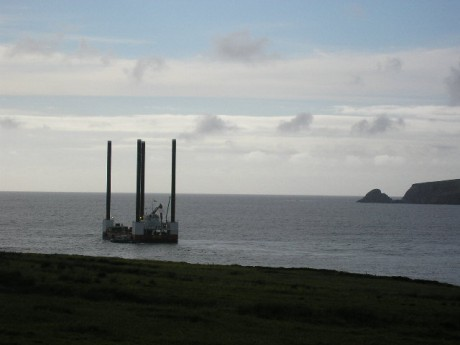 This 'thing' is in Broadhaven Bay beside the beach landfall - more photos of it tmw, hopefully