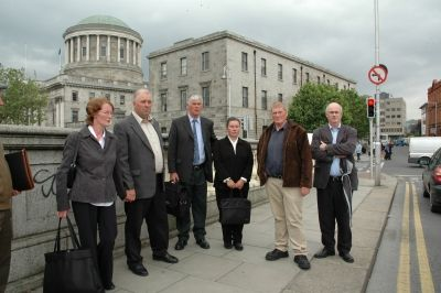 Small landowners and legal team