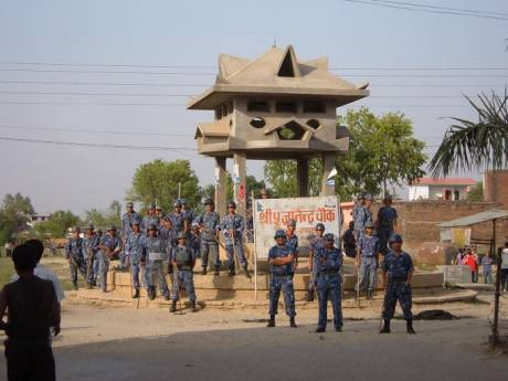 Gyanendra monument before the riots