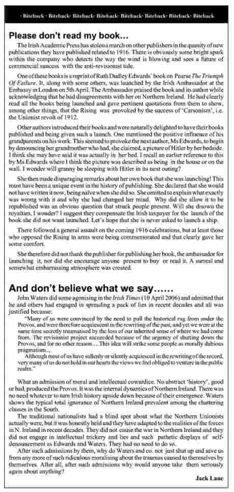 The item so offending Ruth Dudley Edwards (IPR May2006) - double-click to read, left-click to save
