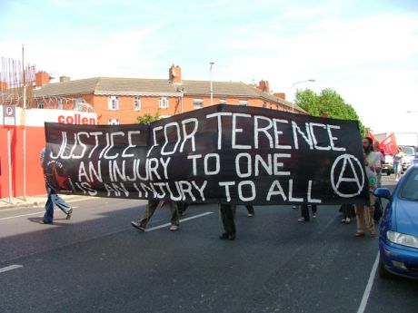 Anarchist Banner - An Injury to One is an Injury to All