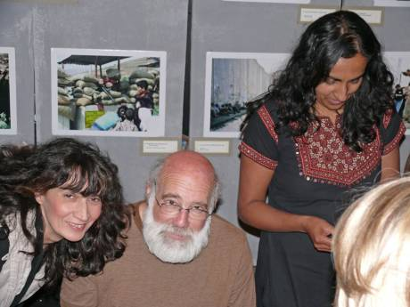 On the left, Lucilla, with Jameen Kaur (AI) assisting the book signing