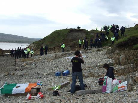 57 or so Gardai Shell D�na on the beach below camp, last Fri. Doesn't beat FSB!'s record of 63!
