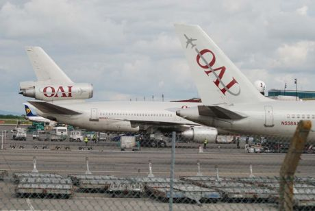 Two Omni Air troop carriers at Shannon 27 June 09