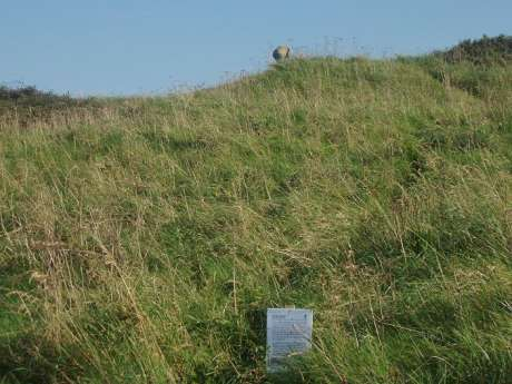 The Central Mound- this notice has since disappeared.