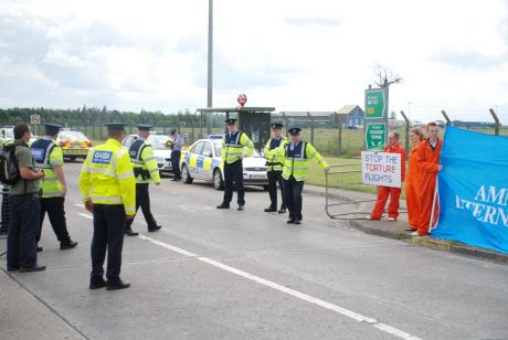 Peace activists prevented from going to Shannon airport by token security